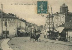 Dax - Rue Saint Vincent de Paul début 1900