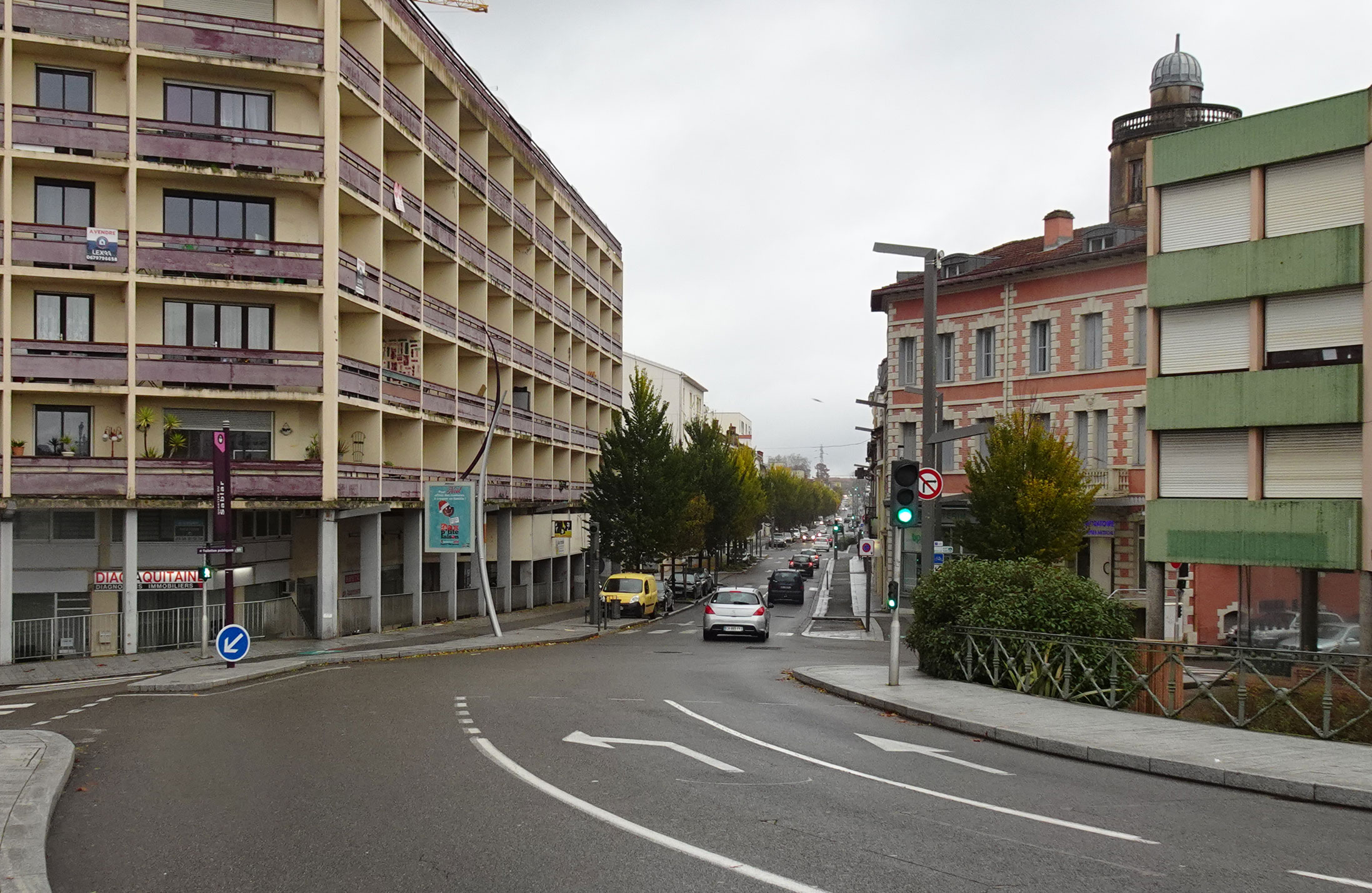 Dax - Rue Saint Vincent de Paul en novembre 2019