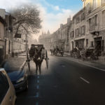 Peyrehorade - rue Gambetta avant et après