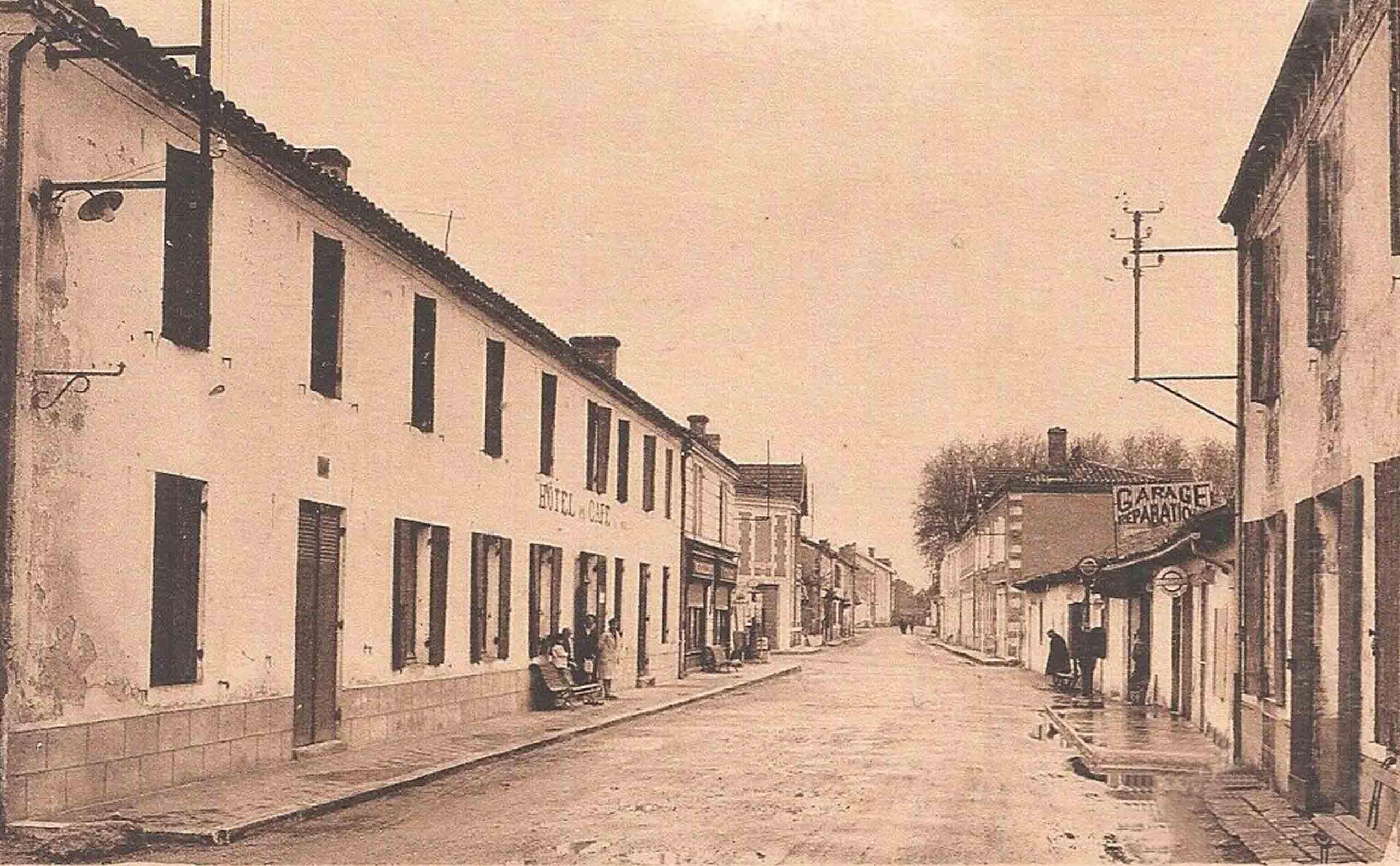 Luxey - Grande Rue début 1900