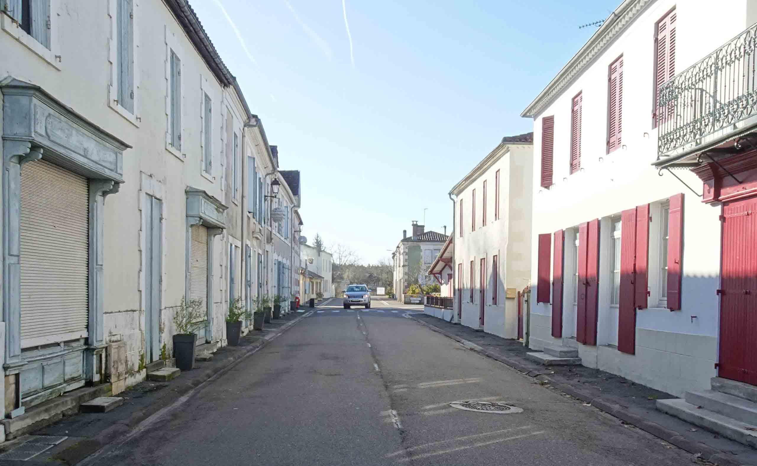 Luxey - Grande rue en 2019