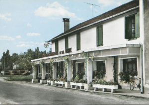 Luxey - Hotel de la gare en 1972