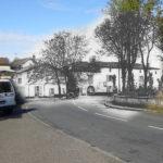 Saubusse - Place de l'église avant et après