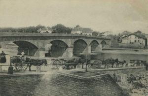 Dax - Pont du Sablar en 1906