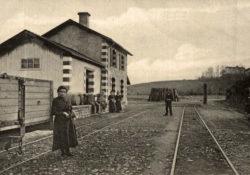 Pouillon - Gare en 1919