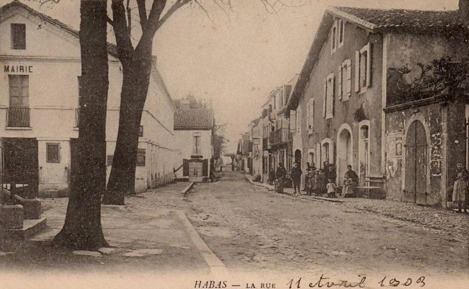 Mairie de Habas en 1903