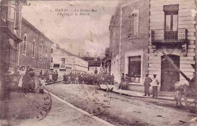 Mairie de Habas en 1921