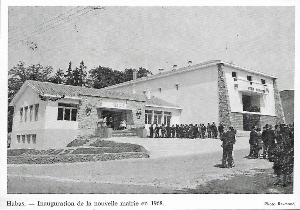 Inauguration Mairie de Habas en 1968
